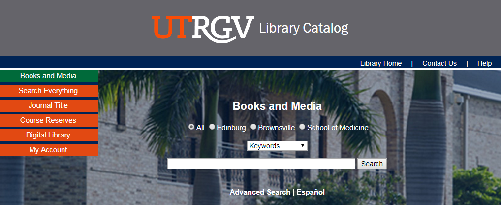 UTRGV Library Catalog