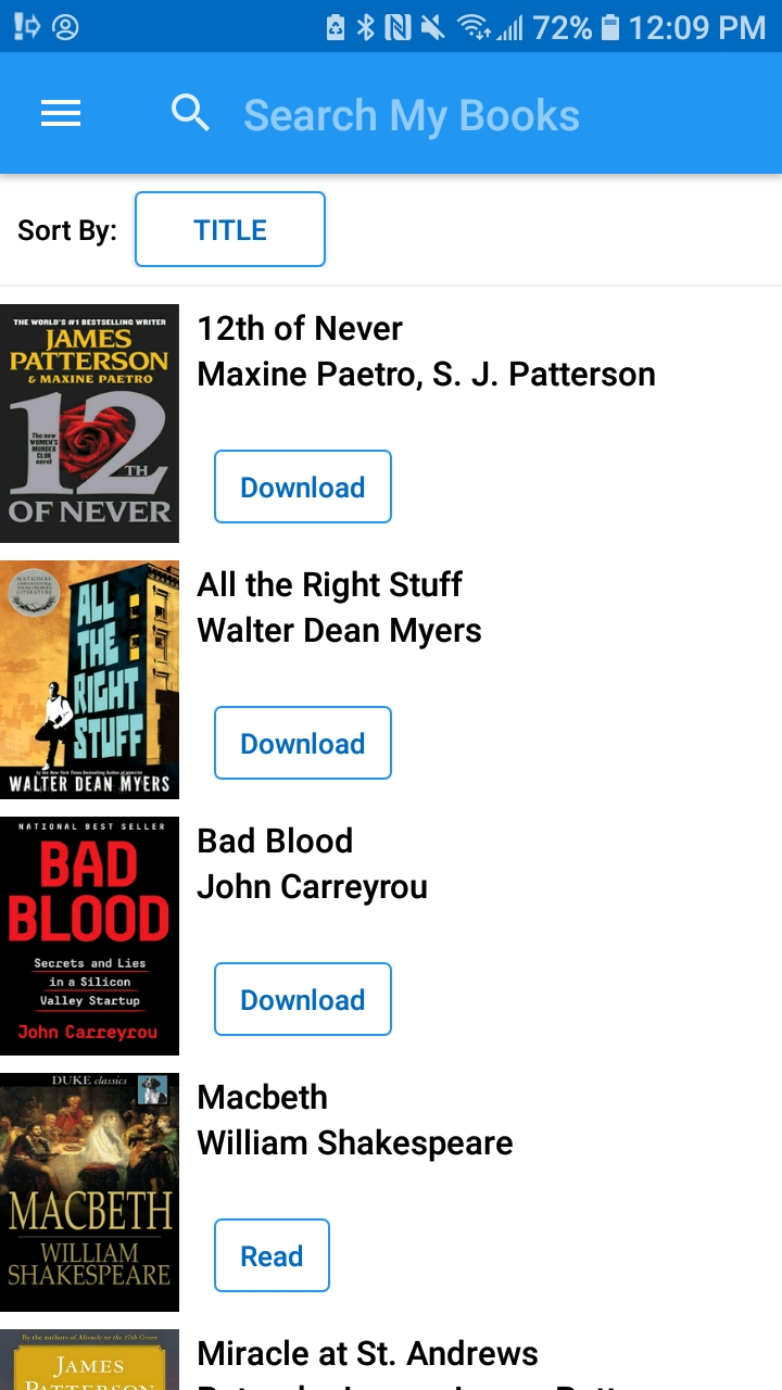 Image of My Books in SimplyE app