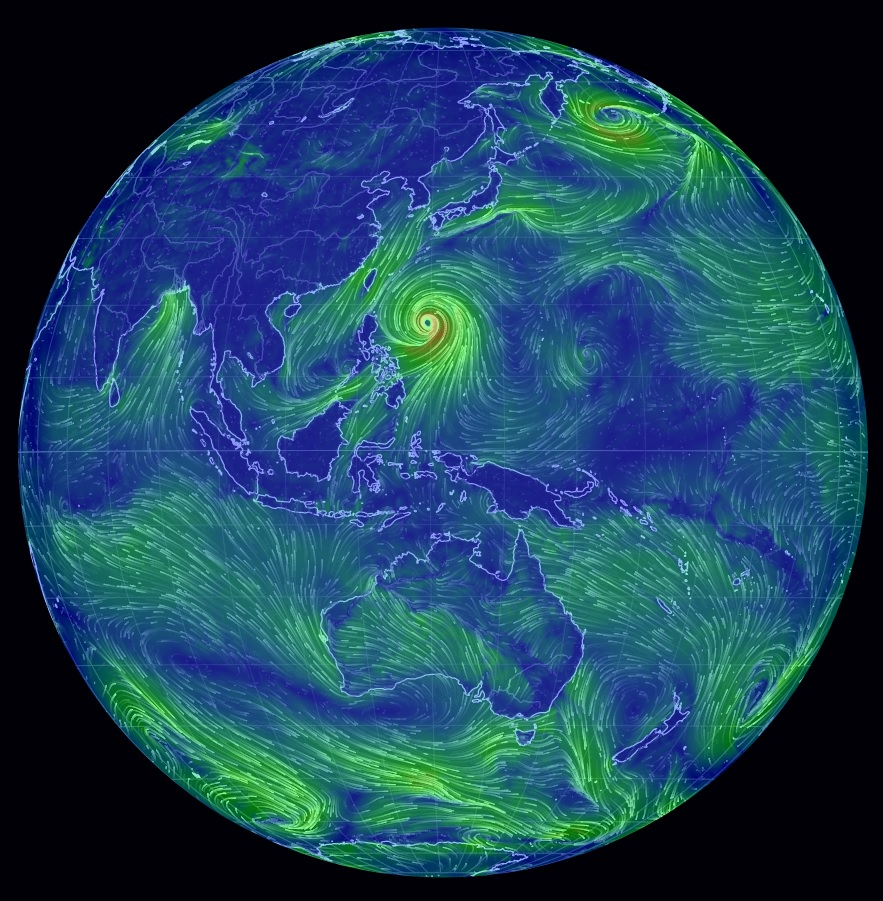 Global Map of Earth's weather conditions