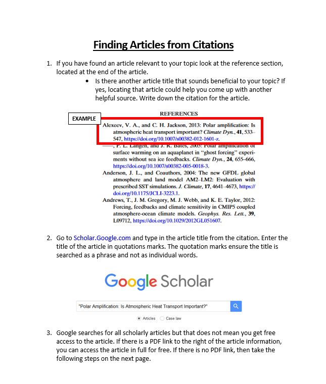 "See transcripts below for the image, ""Finding an Article from a Citation"""