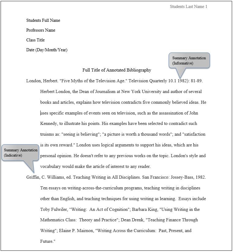 See Word Doc Below for the Transcript of this MLA Annotated Bibliography Example.