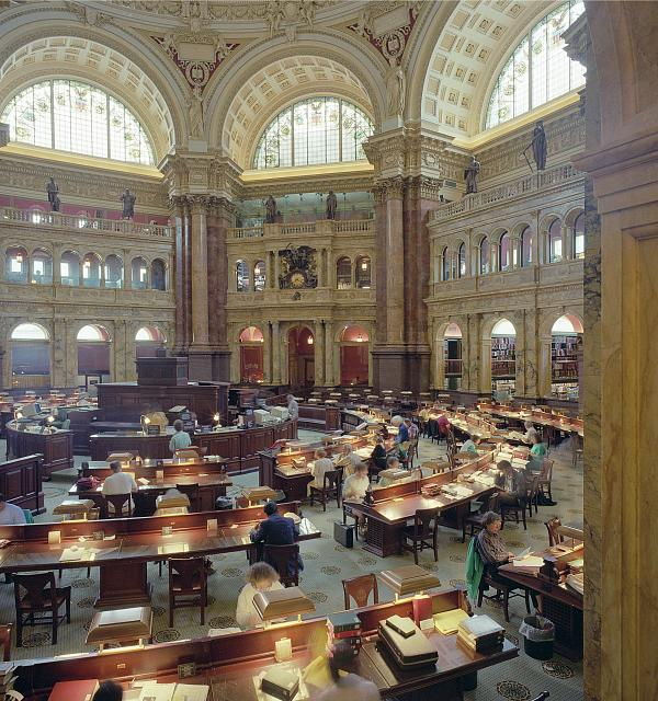 Picture of the Library of Congress reading room