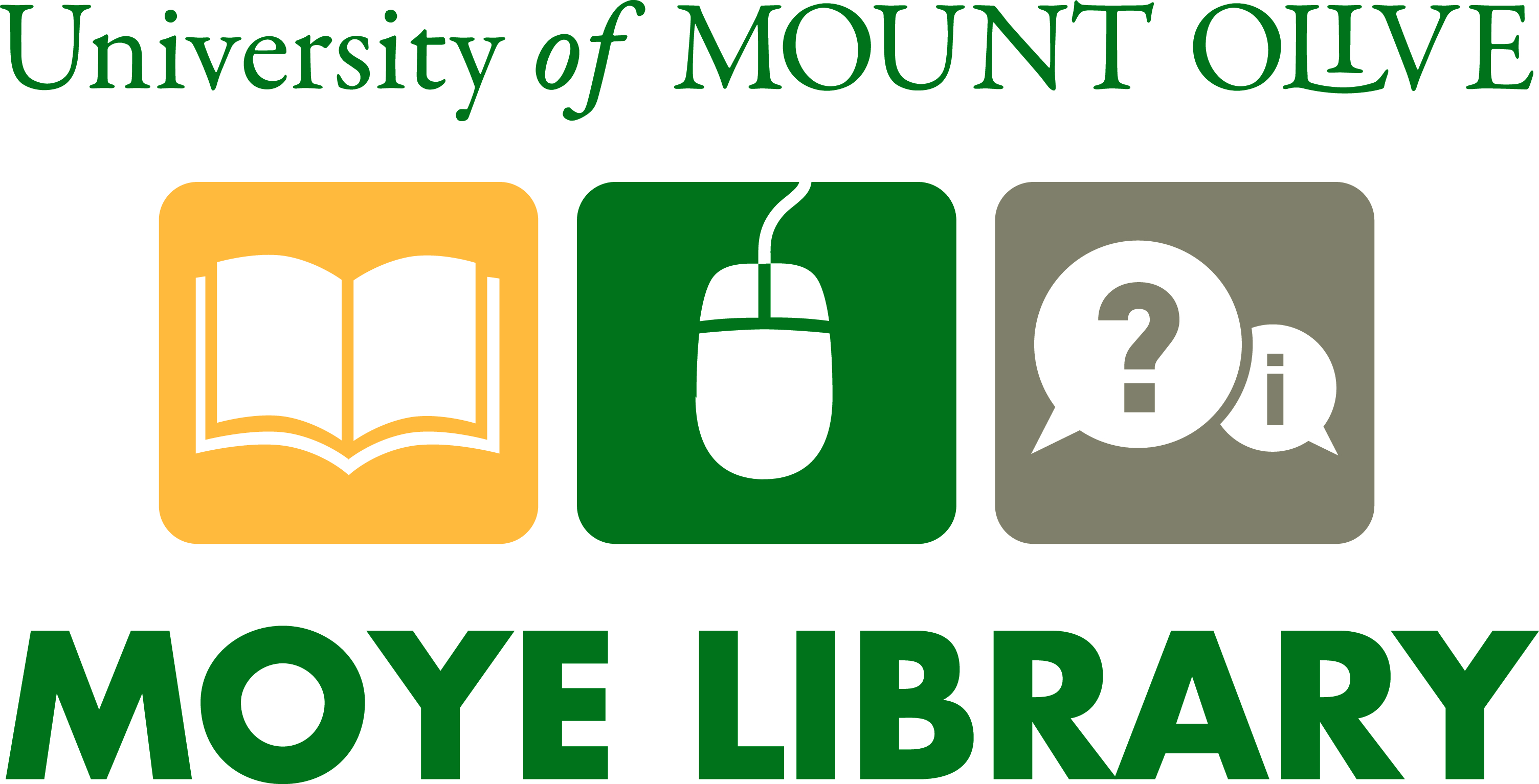 University of Mount Olive, Moye Library Logo