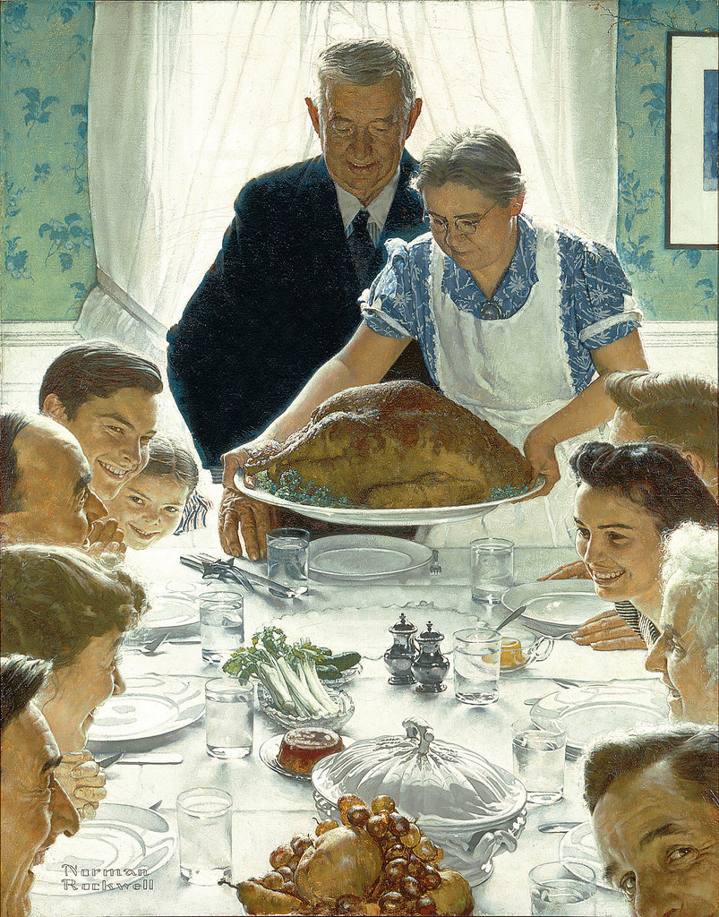 "Image of Norman Rockwell's ""Freedom from Want"" from Gandalf's Gallery on Flickr"