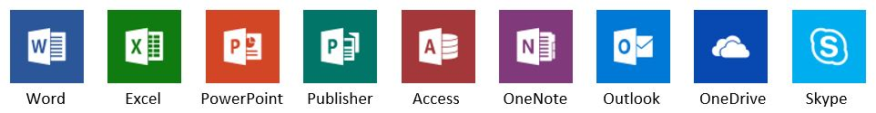 Office app icons