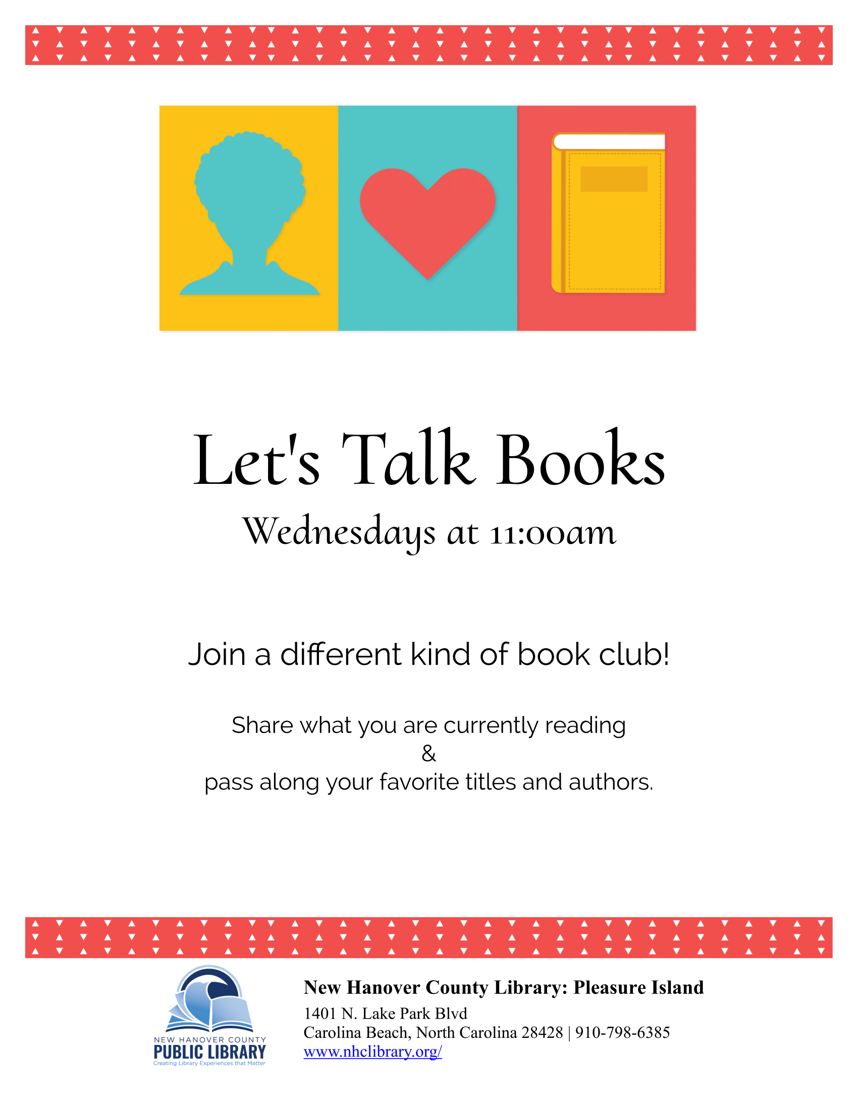 Let's Talk Books flyer