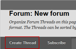 Screenshot of Step 2: Create Thread