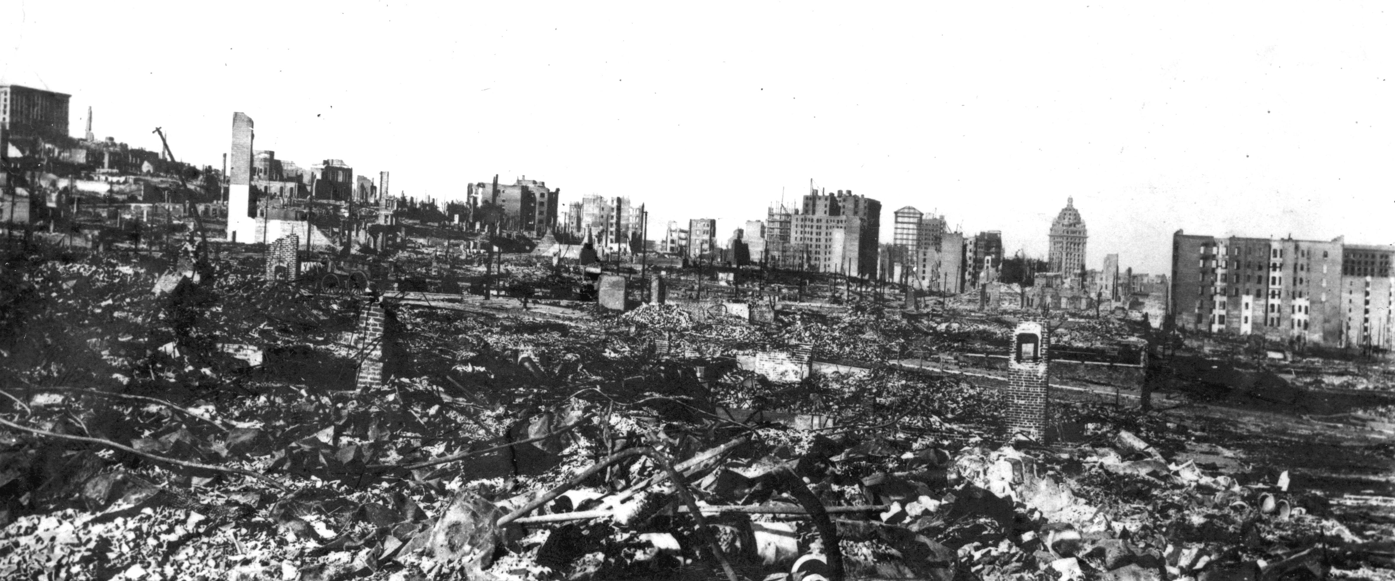 Downtown San Francisco after 1906 Earthquake