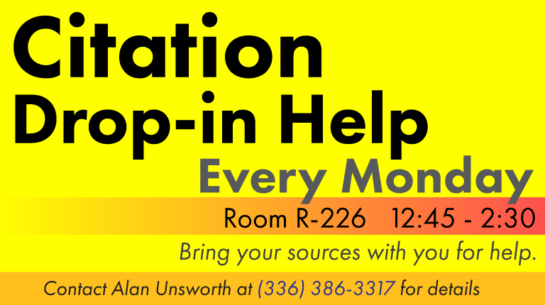 Citation Drop-in Help Fall 2017