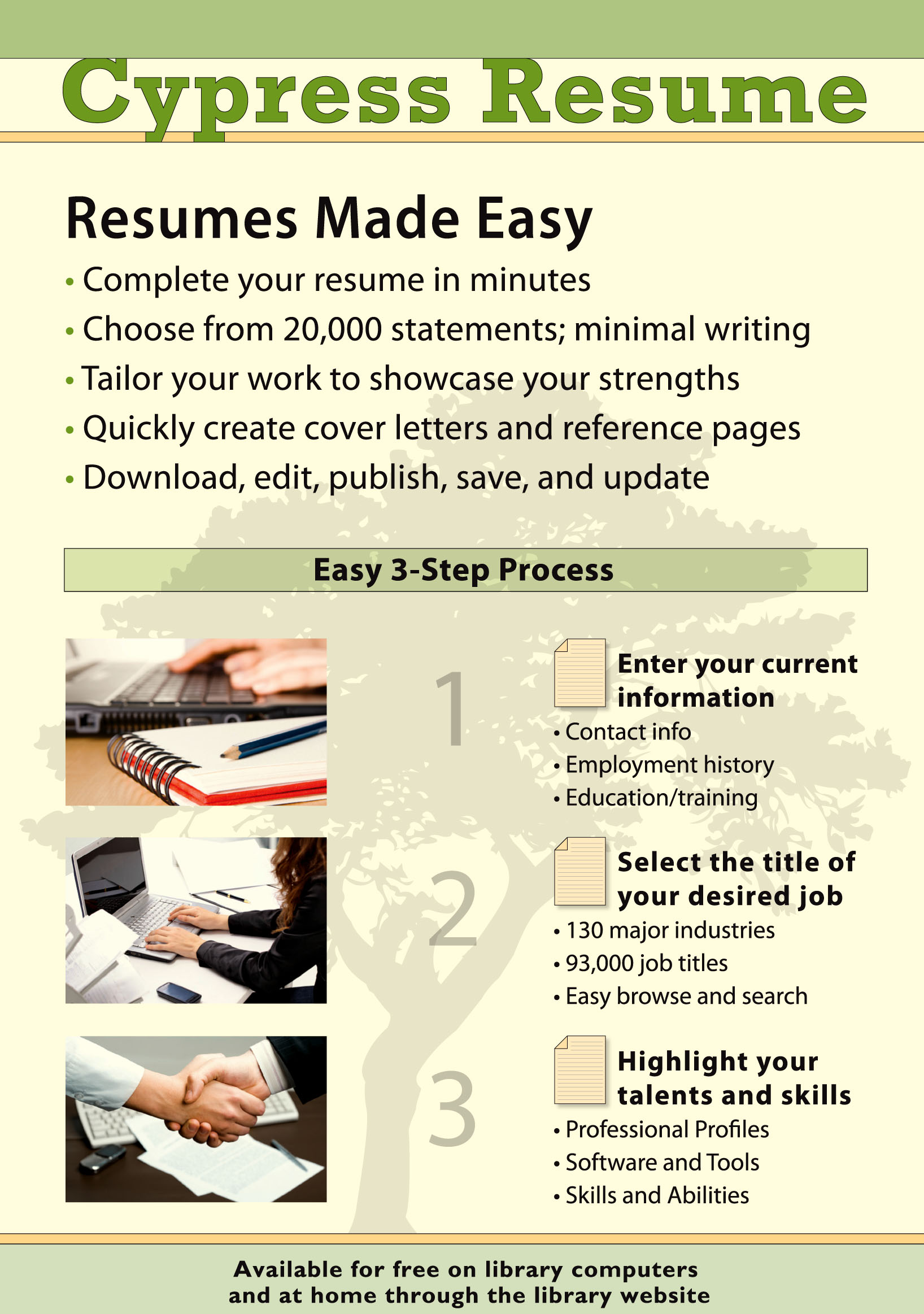 Cypress Resume Flyer