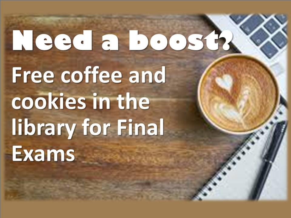 Free Coffee in the library!