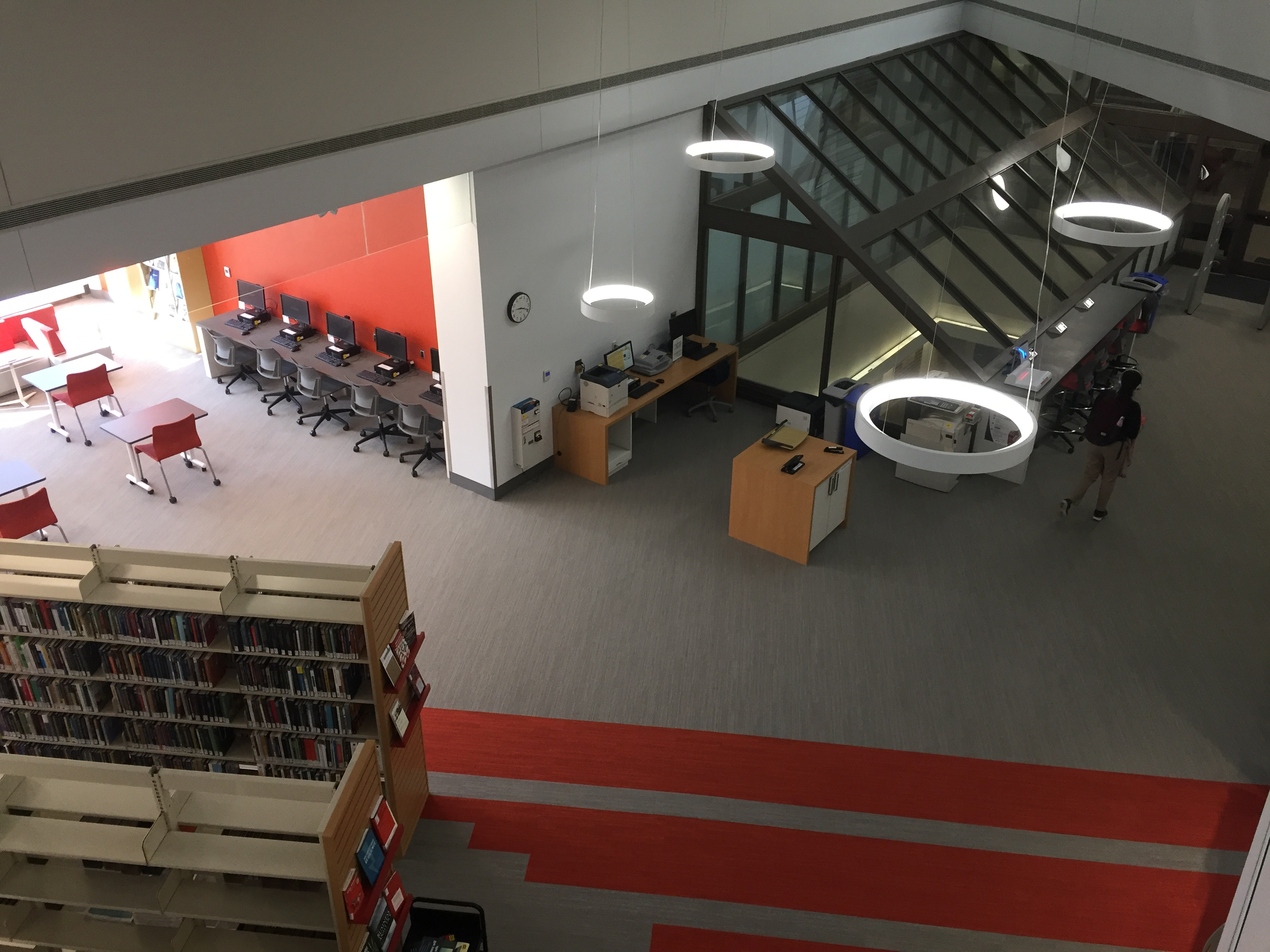 library view from above