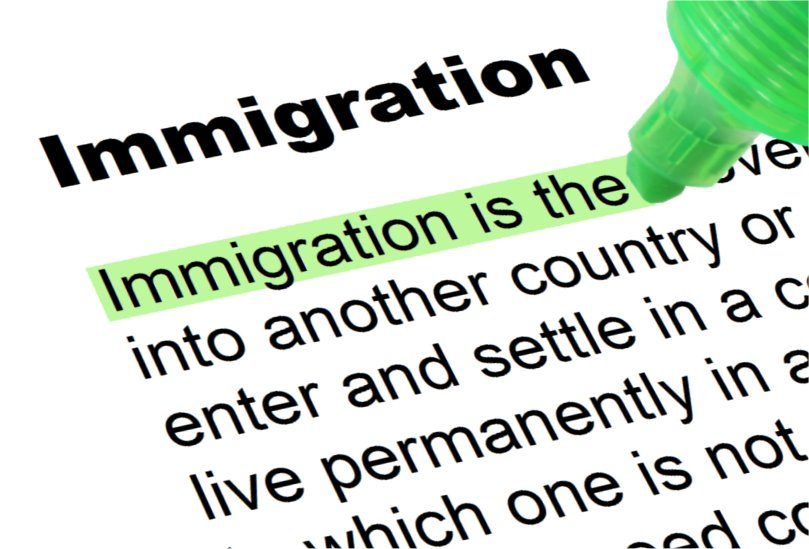 Word immigration with part of the definition