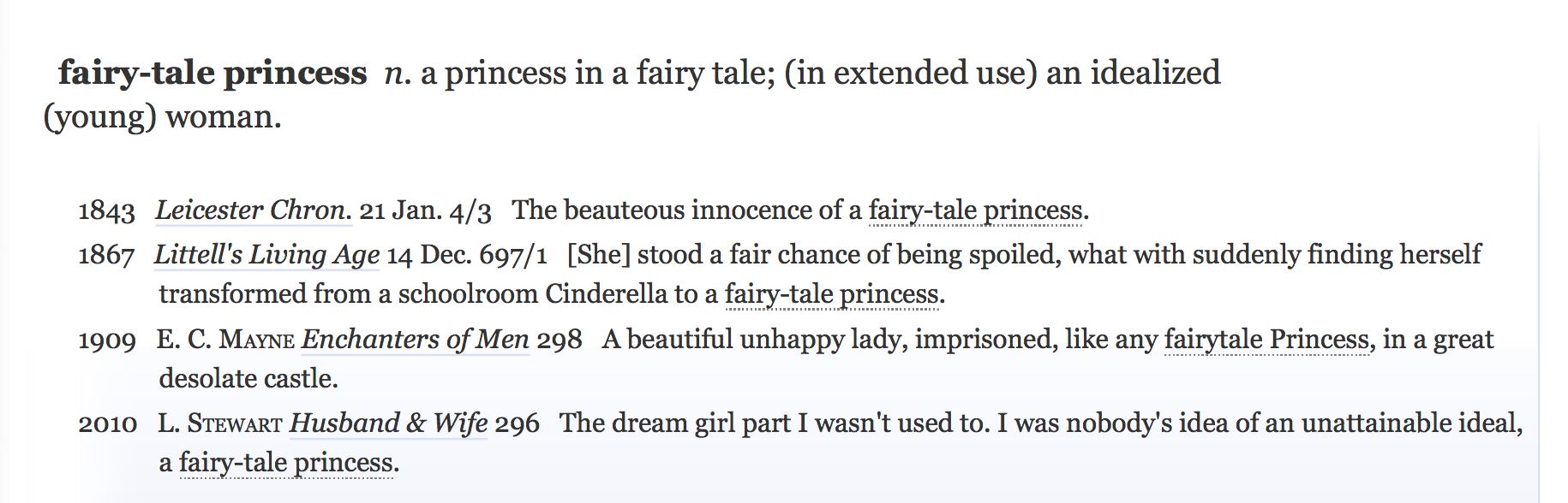 Fairy Tale Princess definition
