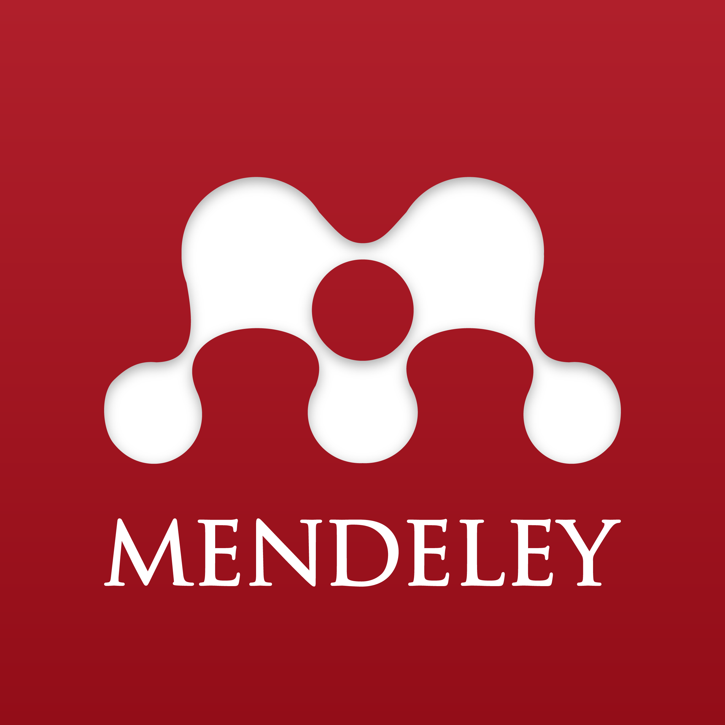 Mendeley logo; interconnected nodes