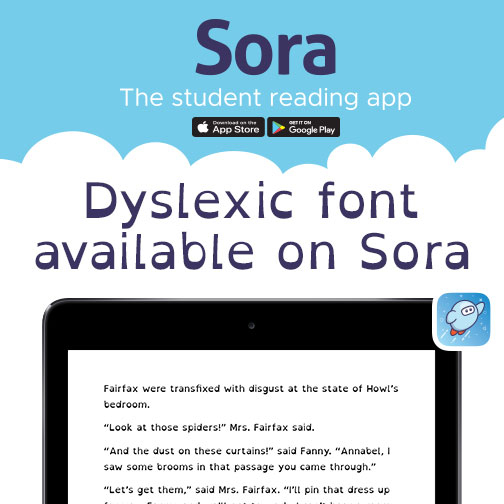 Dyslexic font available on Sora
