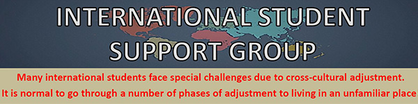 International Student Support Group flyer banner