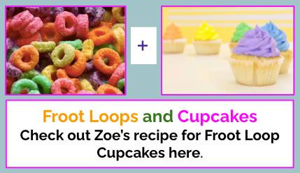 Click for Froot Loop Cupcake Recipe