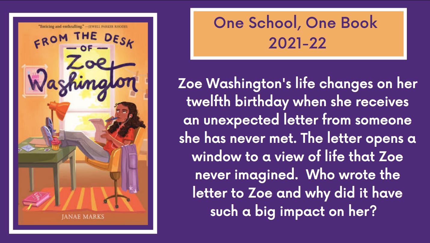 Click for more information on One School, One Book 2021