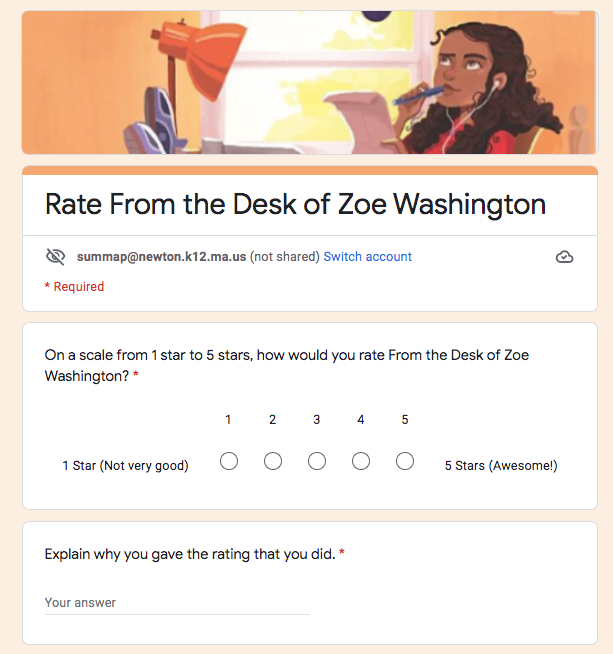 Rate From the Desk of Zoe Washington