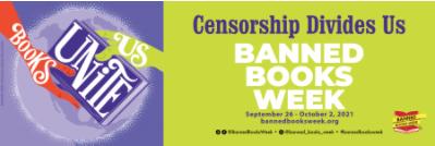 Censorship Divides Us - Banned Books Week Image