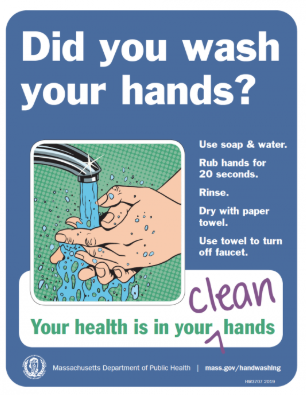 Did you wash your hands? poster