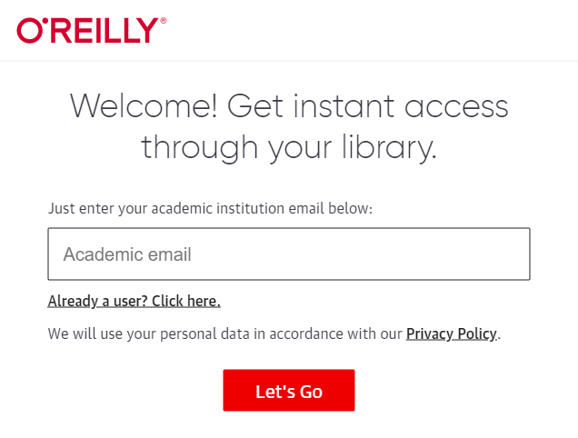 Just enter your academic institution email below: