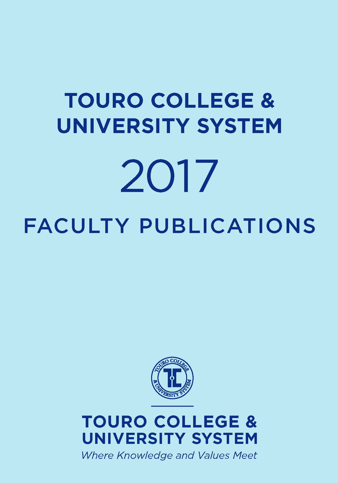 2017 Touro College & University System Faculty Publications