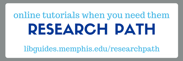 online tutorials when you need them: library research path
