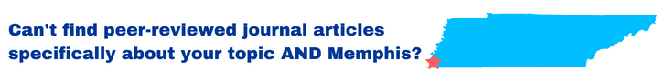 Can't find peer-reviewed journal articles specifically about your topic AND Memphis?