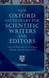 book cover with title New Oxford Dictionary for Scientific Writers and Editors