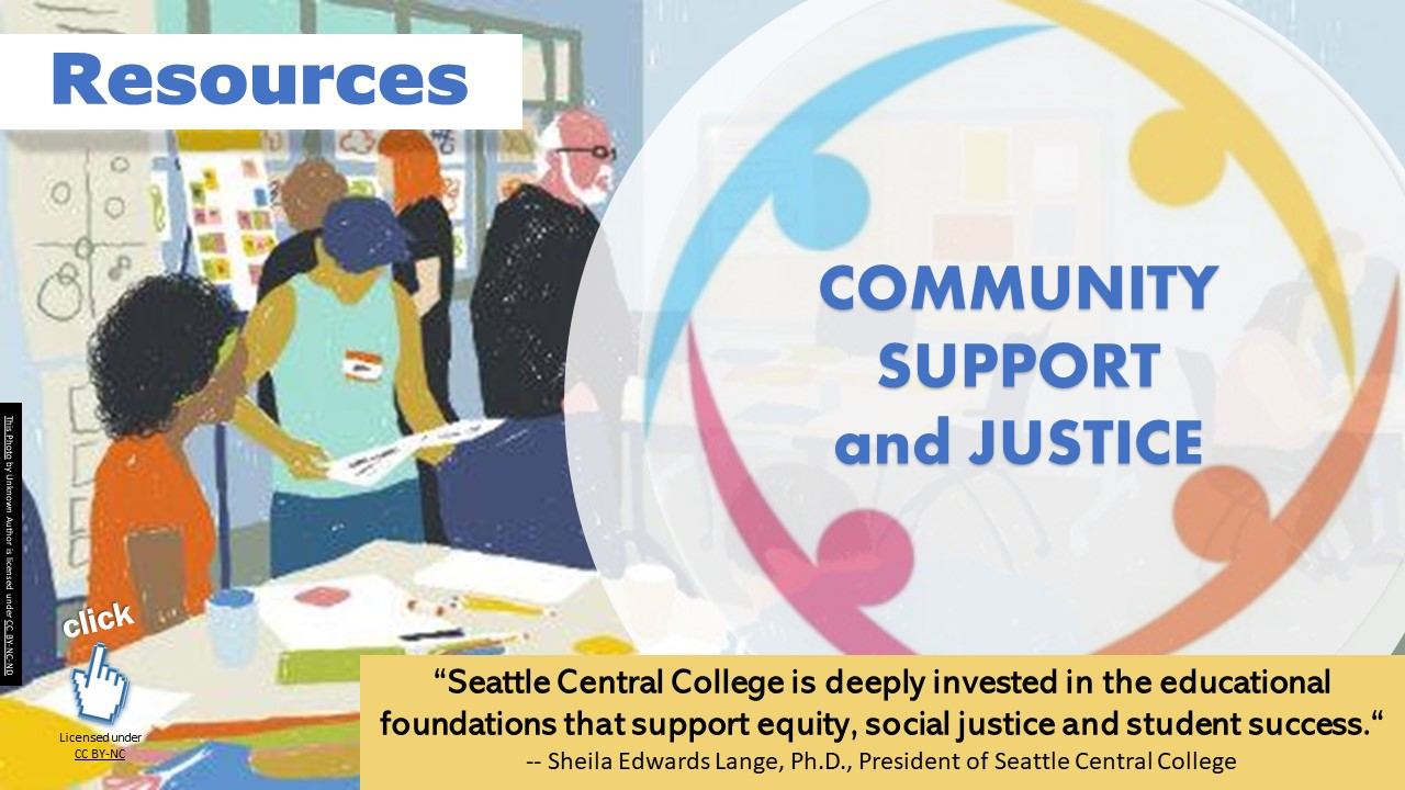 Community Support and Justice resources