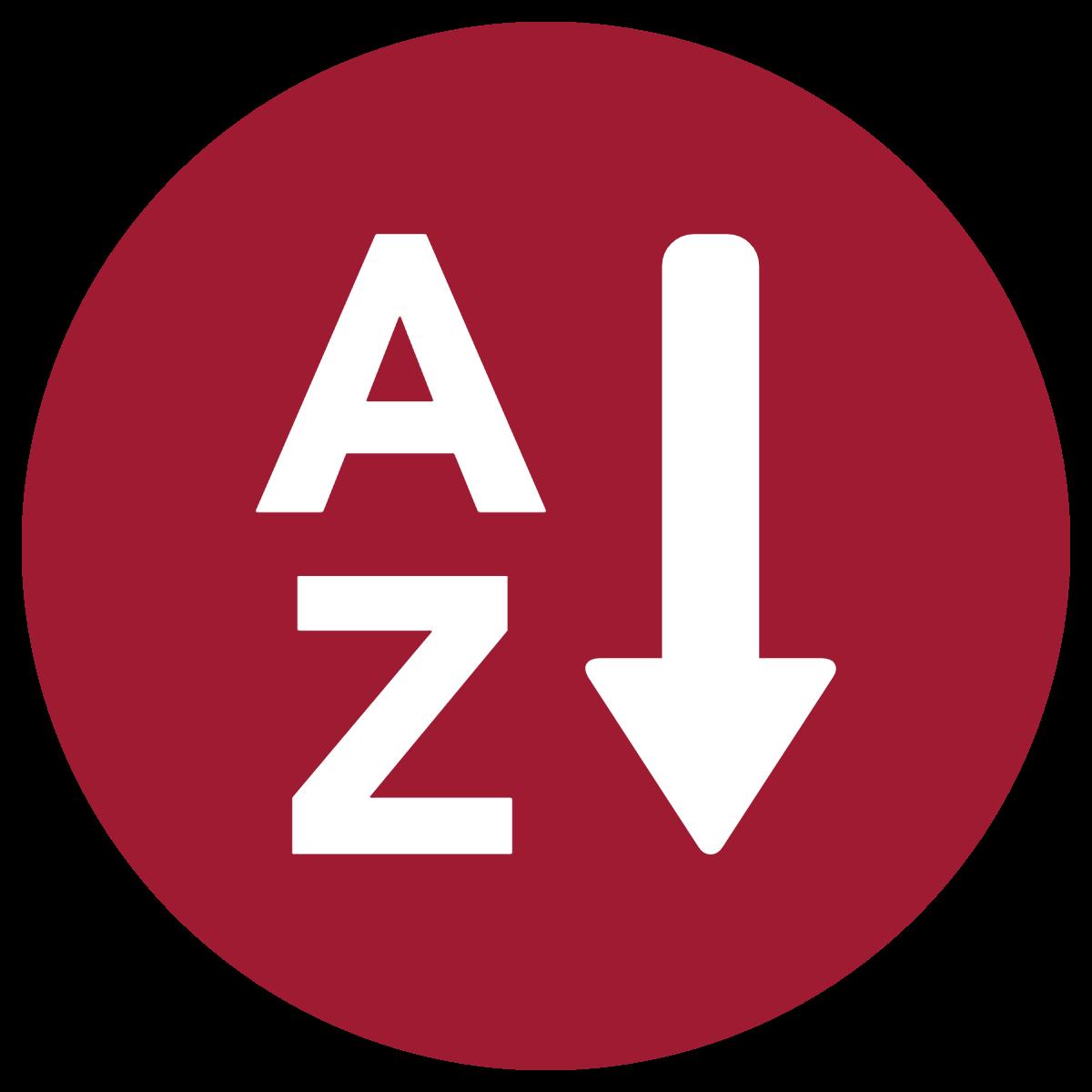 alphbetical listing