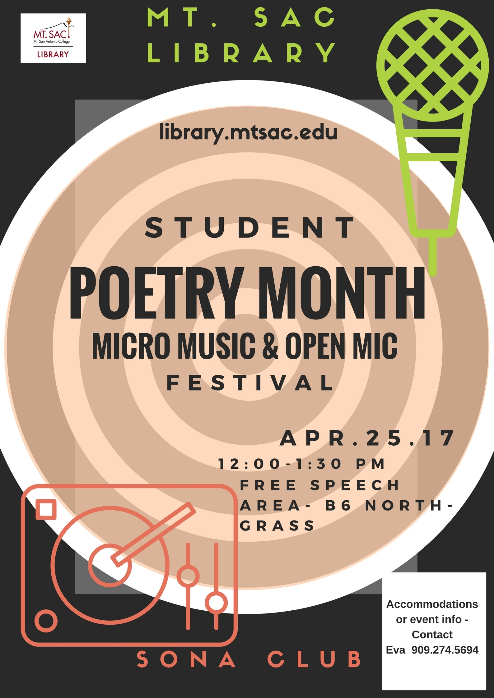 Mt. SAC Library celebrates poetry month