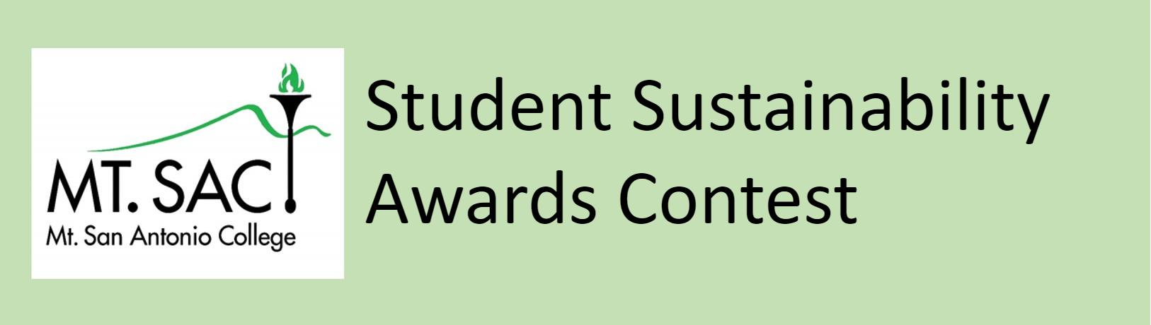Mt. SAC Student Sustainbability Awards Contest