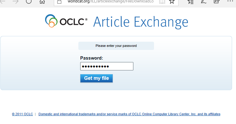 An example of the Article Exchange webpage.