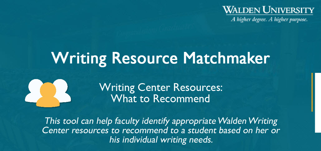 Decorative image: Writing Resource Matchmaker