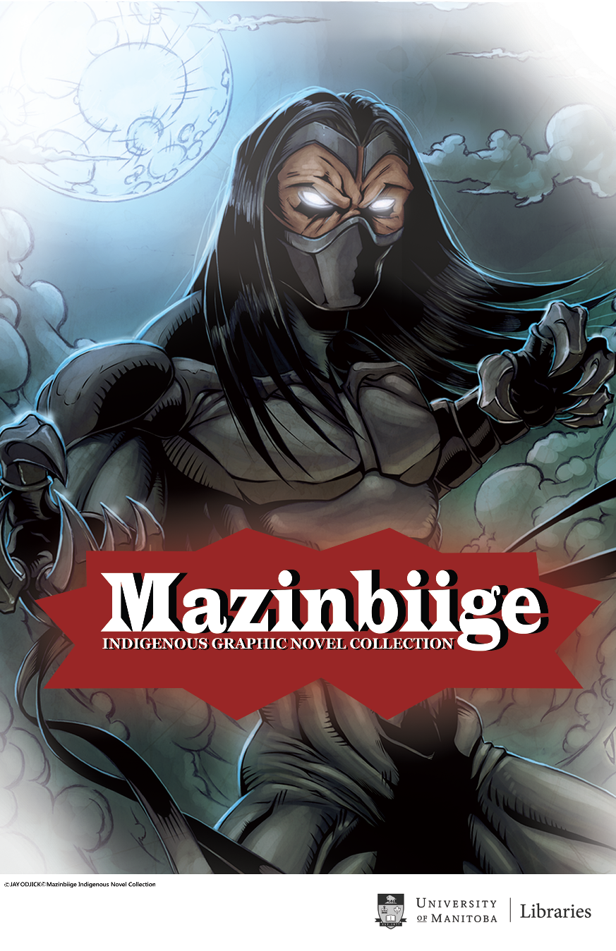 Mazinbiige Poster depicts the character Kagagi from the comic Kagagi: The Raven, illustrated by Jay Odjick