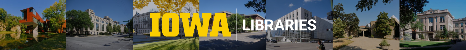 UIowa Libraries Logo and building collage