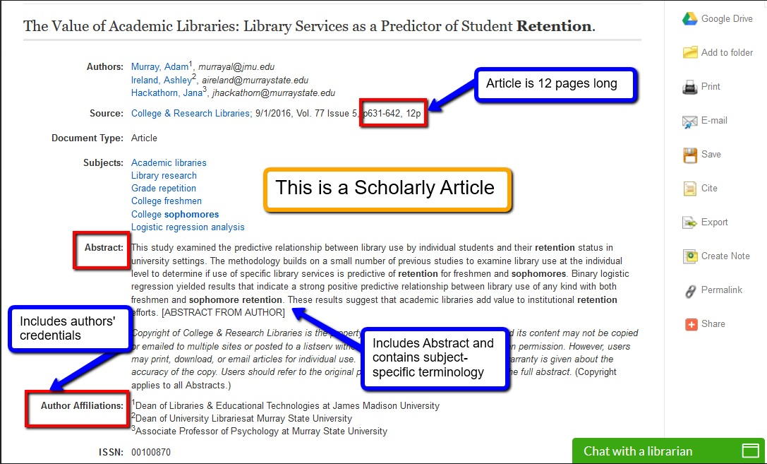 Example of scholarly article