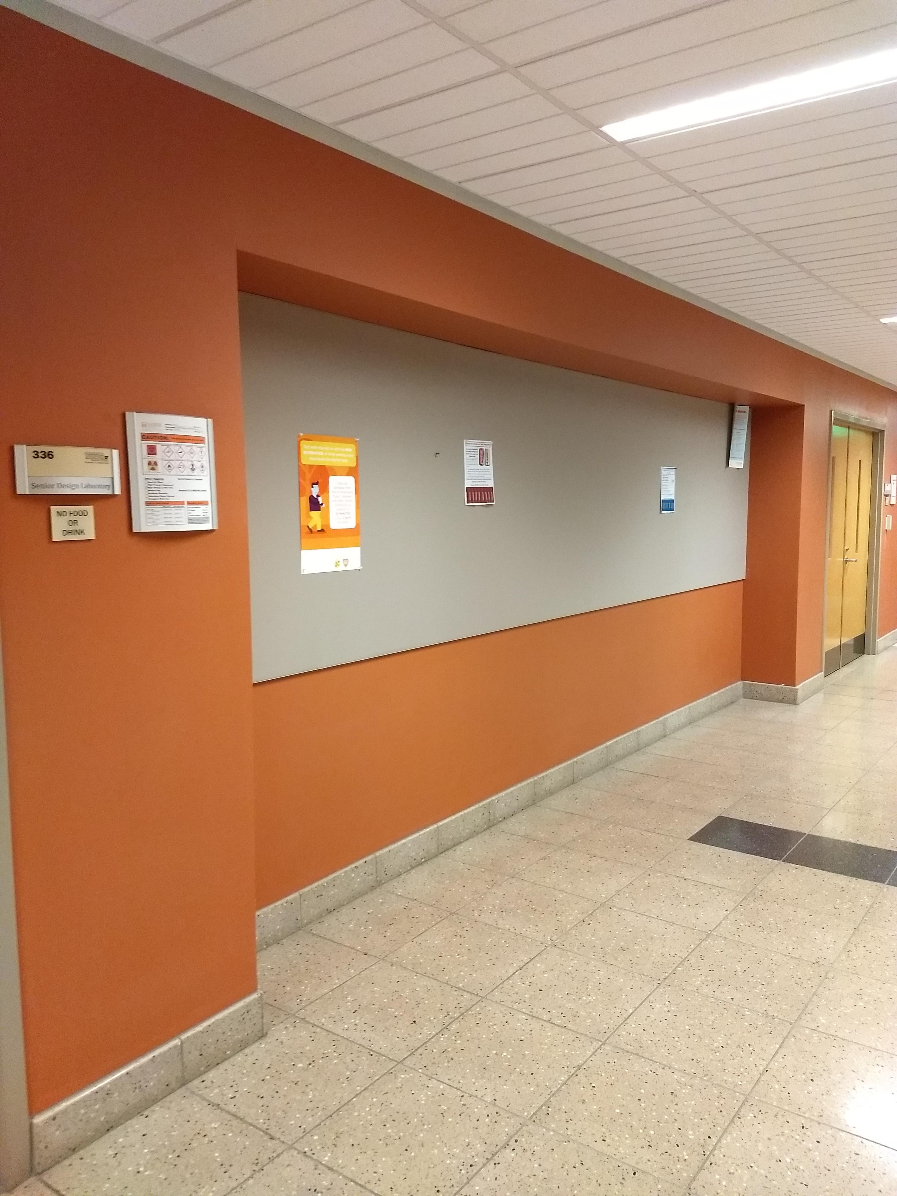3rd floor hall by room 336