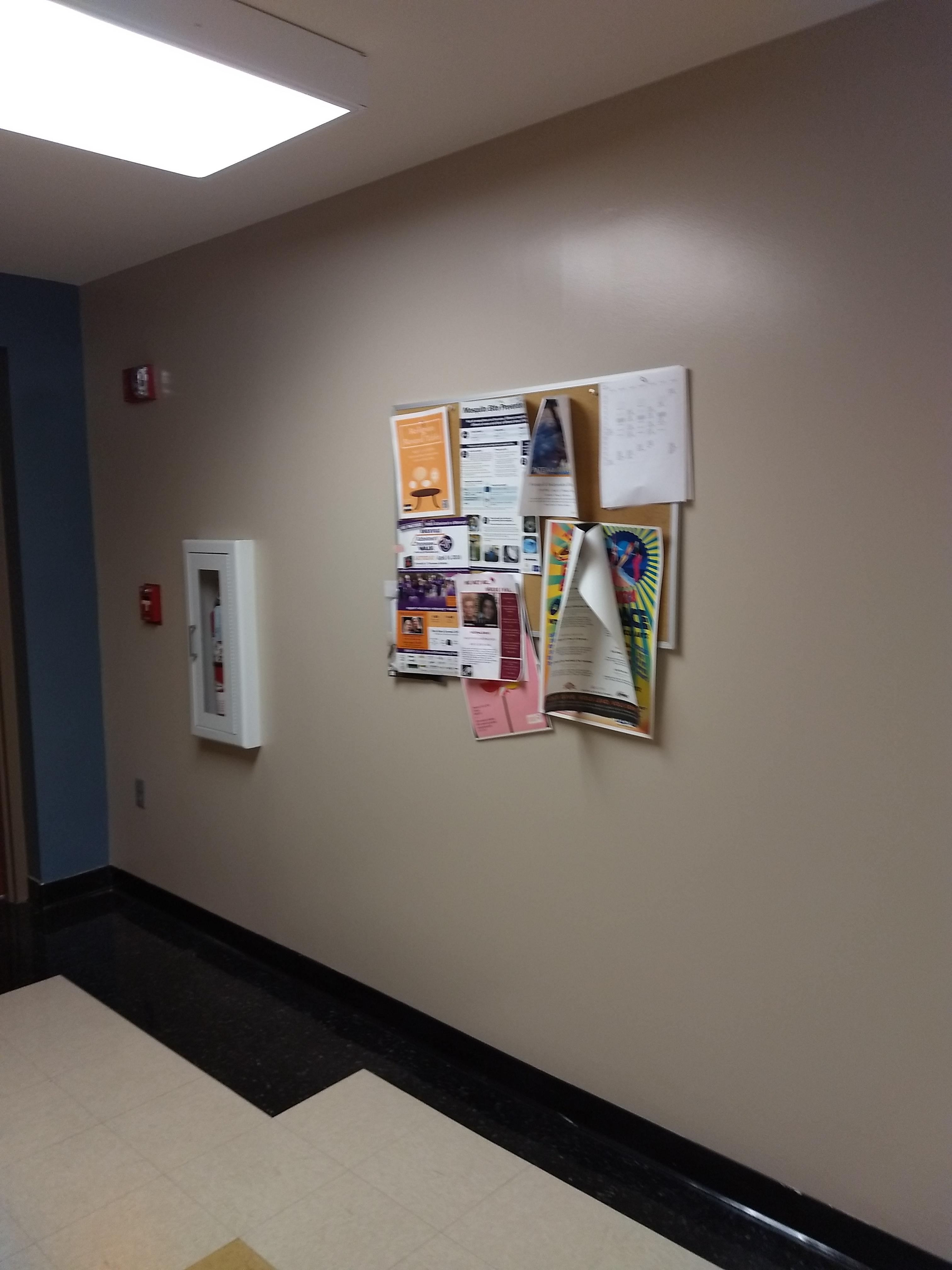 2nd floor corner of hall near dance studio