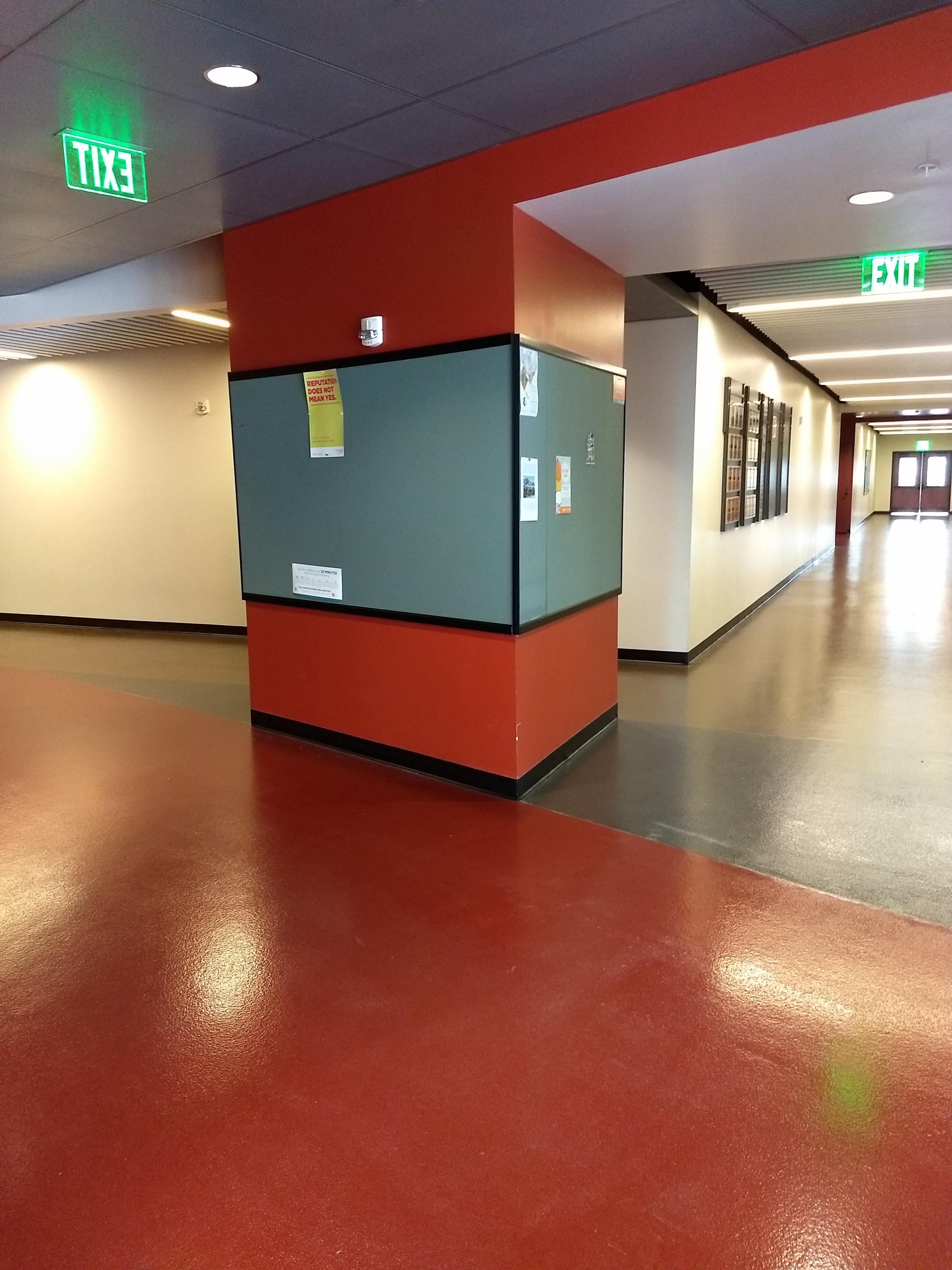 4th floor quad board at entrance next to elevators