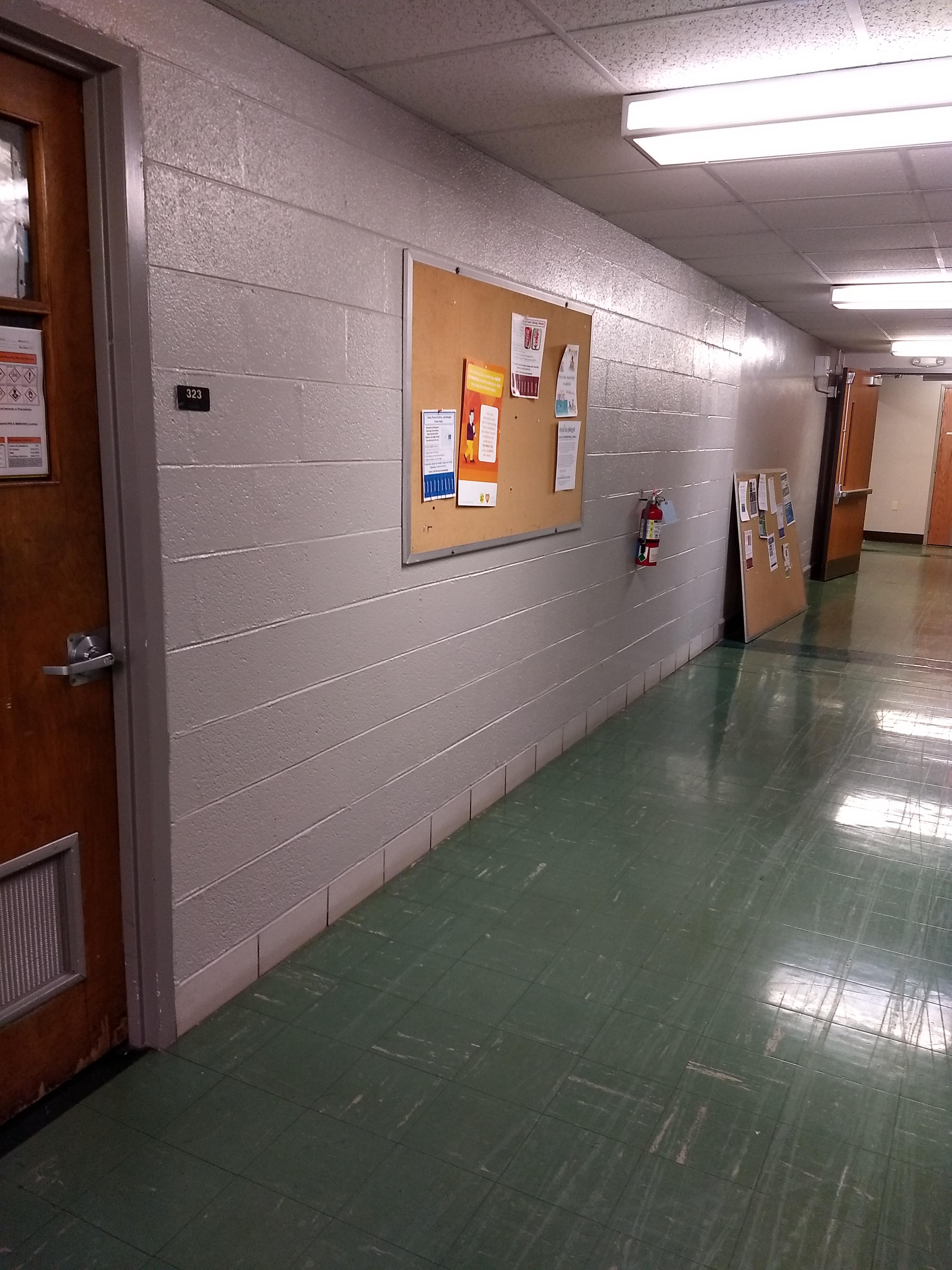 3rd floor next to room 323