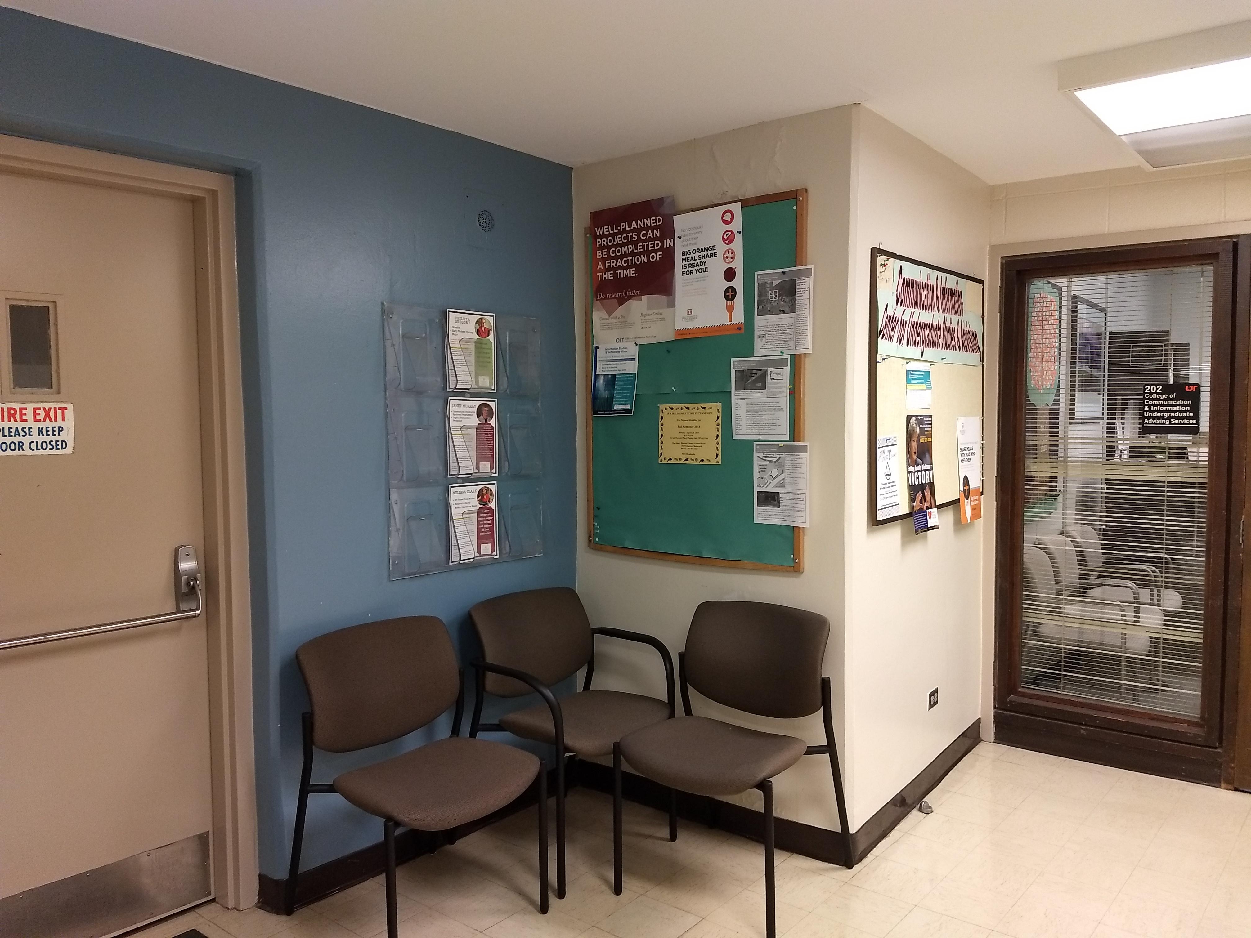 2nd floor between stairs and cci undergrad advising room 202