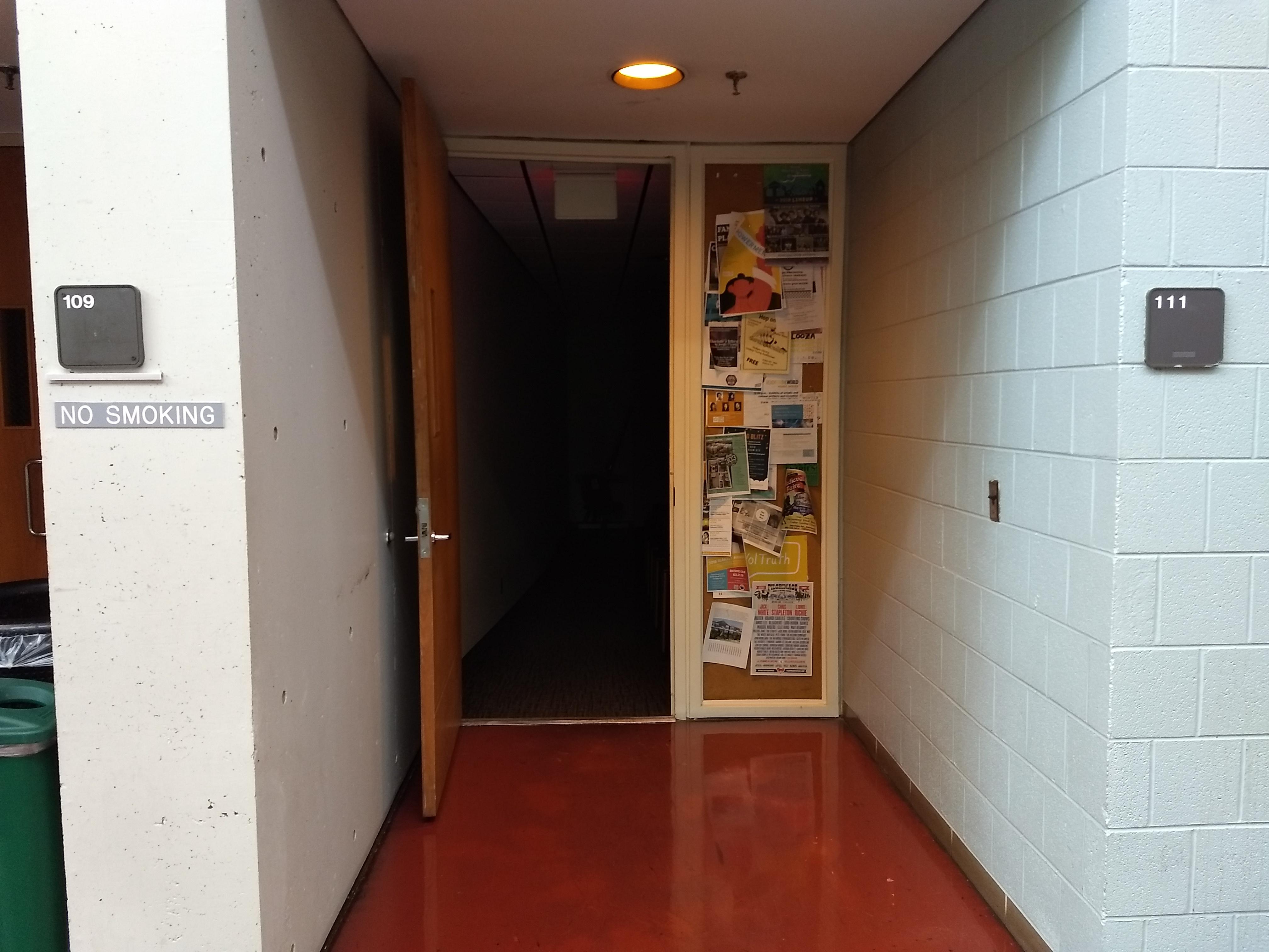 1st floor outside room 111 left hand side