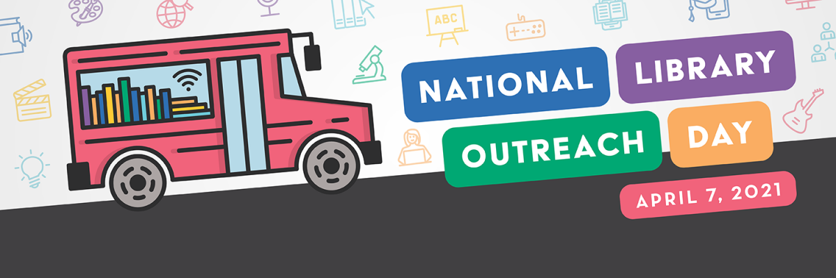 National Library Outreach Day April 7, 2021 logo