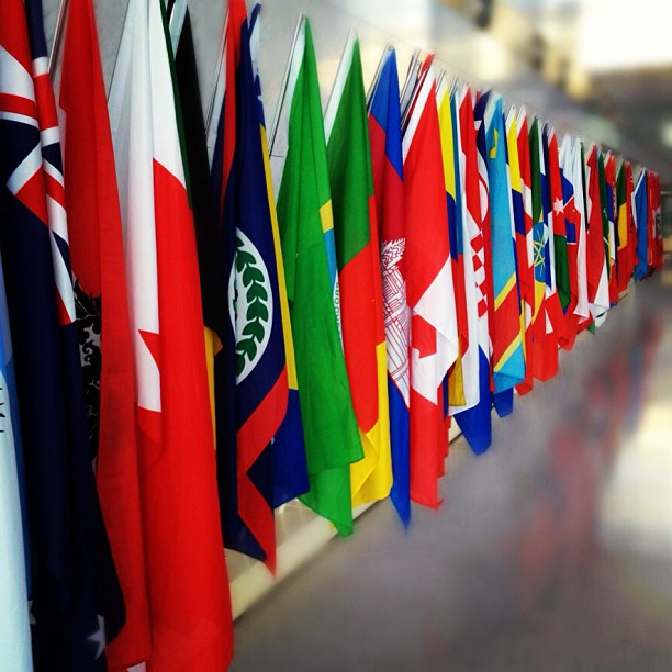 Photograph of international flags