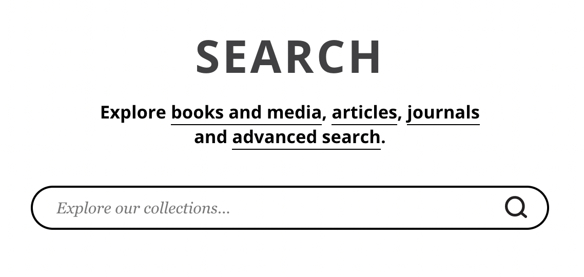 Main search box on library home page