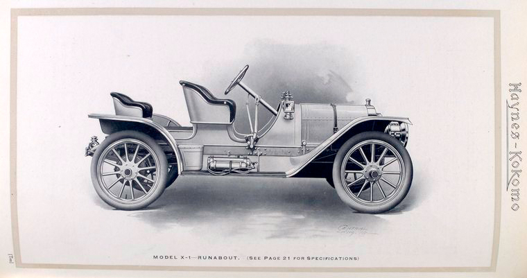Archival image of an old-style car